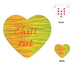 Chill out Playing Cards (Heart)  Front