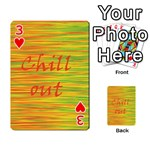 Chill out Playing Cards 54 Designs  Front - Heart3