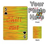 Chill out Playing Cards 54 Designs  Front - Spade5