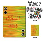 Chill out Playing Cards 54 Designs  Front - Spade10