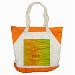 Chill out Accent Tote Bag Front