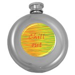 Chill out Round Hip Flask (5 oz) Front