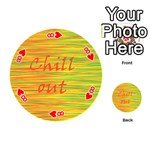 Chill out Playing Cards 54 (Round)  Front - Heart8