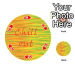 Chill out Playing Cards 54 (Round)  Front - HeartK