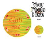 Chill out Playing Cards 54 (Round)  Front - Diamond9