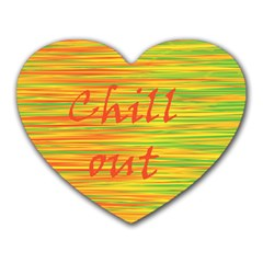 Chill Out Heart Mousepads