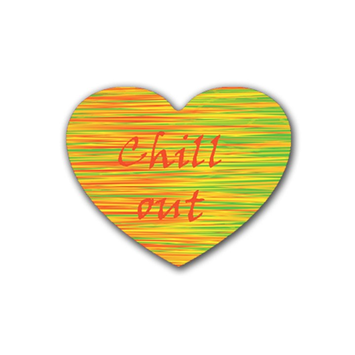 Chill out Heart Coaster (4 pack)