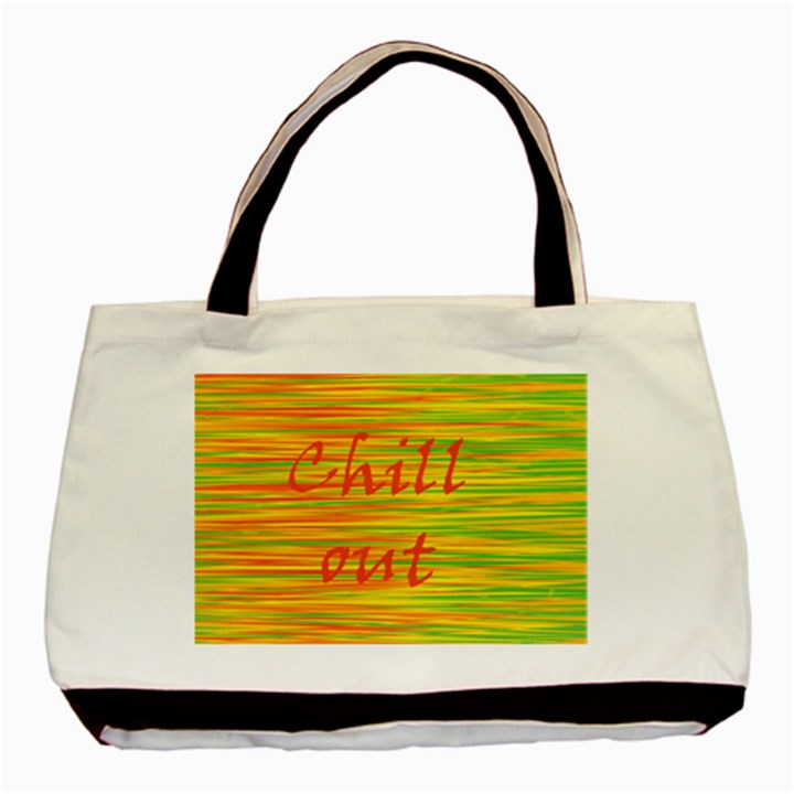 Chill out Basic Tote Bag (Two Sides)