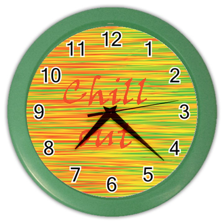 Chill out Color Wall Clocks