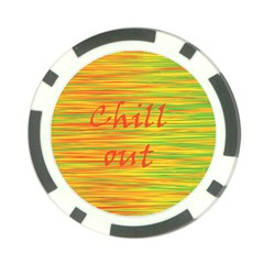 Chill Out Poker Chip Card Guards