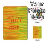 Chill out Multi-purpose Cards (Rectangle)  Back 29