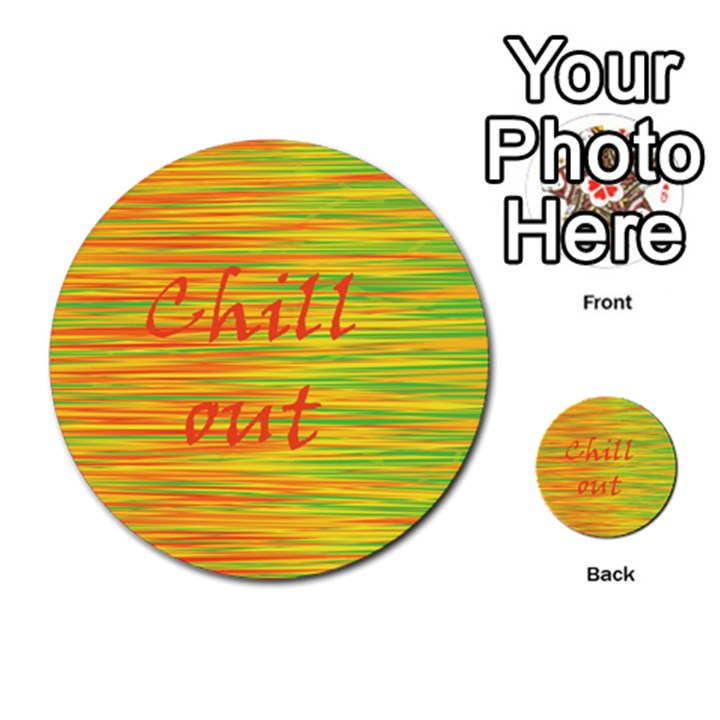 Chill out Multi-purpose Cards (Round)