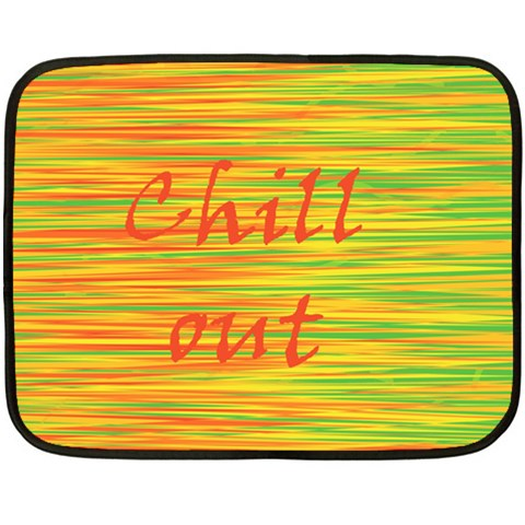 Chill out Double Sided Fleece Blanket (Mini)