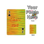 Chill out Playing Cards 54 (Mini)  Front - Spade3