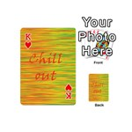 Chill out Playing Cards 54 (Mini)  Front - HeartK