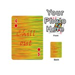 Chill out Playing Cards 54 (Mini)  Front - Diamond4