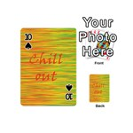 Chill out Playing Cards 54 (Mini)  Front - Spade10