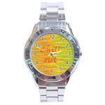 Chill out Stainless Steel Analogue Watch Front