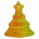 Chill out Christmas Tree Ornament (2 Sides) Back