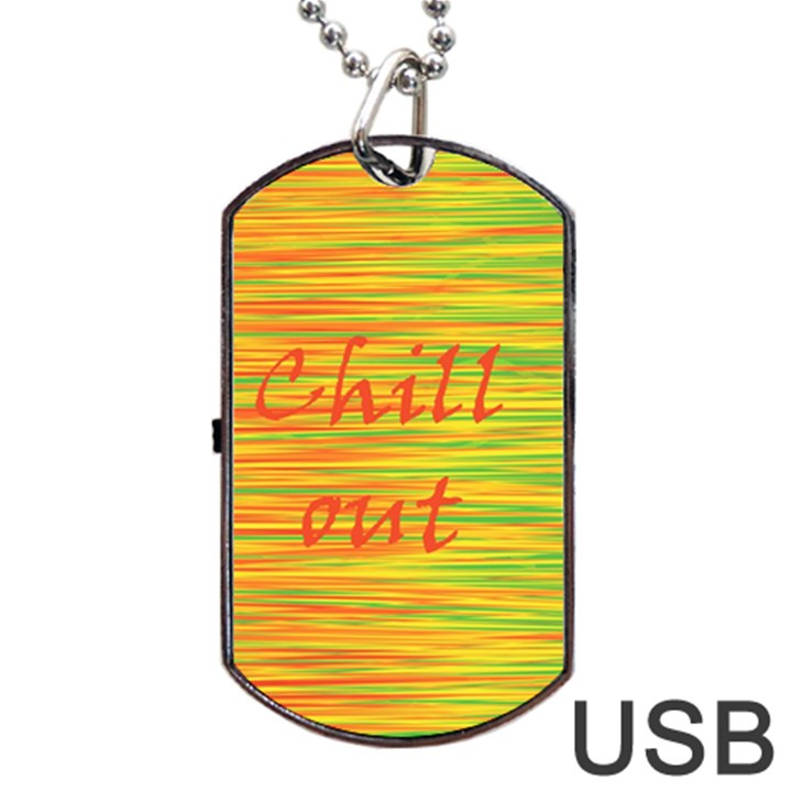 Chill out Dog Tag USB Flash (Two Sides)