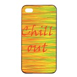 Chill out Apple iPhone 4/4s Seamless Case (Black) Front