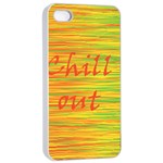 Chill out Apple iPhone 4/4s Seamless Case (White) Front