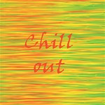 Chill out Happy Birthday 3D Greeting Card (8x4) Inside