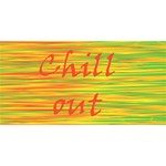 Chill out Happy Birthday 3D Greeting Card (8x4) Back