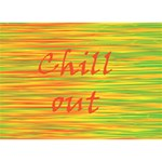 Chill out BOY 3D Greeting Card (7x5) Back