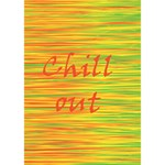 Chill out Peace Sign 3D Greeting Card (7x5) Inside