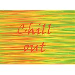 Chill out Peace Sign 3D Greeting Card (7x5) Back