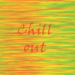 Chill out PARTY 3D Greeting Card (8x4) Inside