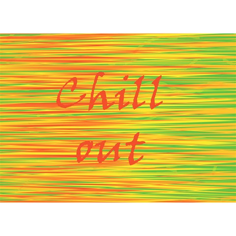 Chill out Birthday Cake 3D Greeting Card (7x5)