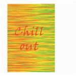 Chill out Small Garden Flag (Two Sides) Back