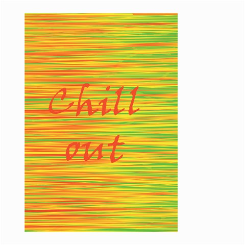 Chill out Large Garden Flag (Two Sides)