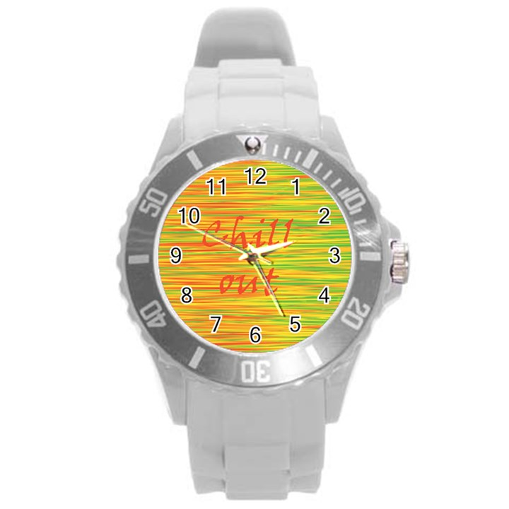 Chill out Round Plastic Sport Watch (L)
