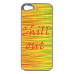 Chill out Apple iPhone 5 Case (Silver) Front