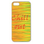 Chill out Apple Seamless iPhone 5 Case (Clear) Front