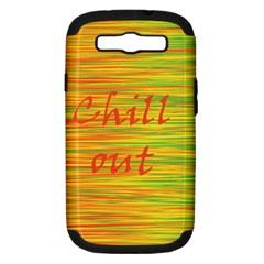 Chill out Samsung Galaxy S III Hardshell Case (PC+Silicone)