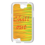 Chill out Samsung Galaxy Note 2 Case (White) Front