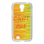 Chill out Samsung GALAXY S4 I9500/ I9505 Case (White) Front