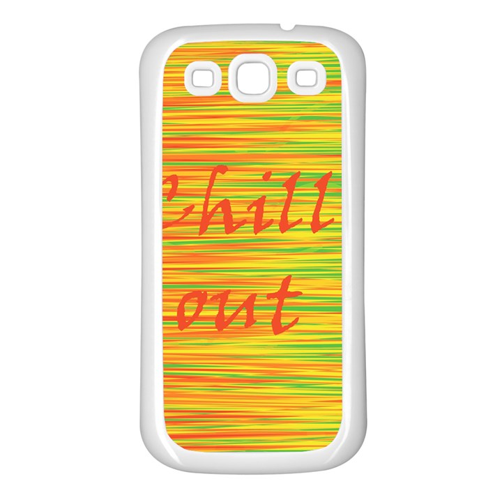 Chill out Samsung Galaxy S3 Back Case (White)