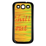 Chill out Samsung Galaxy S3 Back Case (Black) Front
