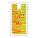 Chill out Samsung Galaxy Note 3 N9005 Case (White) Front