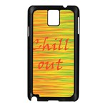 Chill out Samsung Galaxy Note 3 N9005 Case (Black) Front