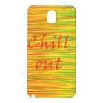 Chill out Samsung Galaxy Note 3 N9005 Hardshell Back Case Front