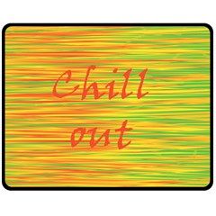 Chill out Double Sided Fleece Blanket (Medium)