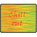 Chill out Double Sided Fleece Blanket (Medium)  60 x50 Blanket Back