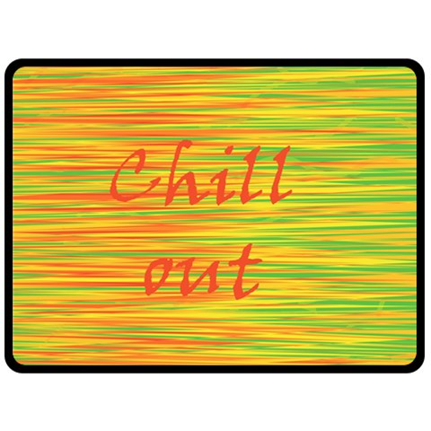 Chill out Double Sided Fleece Blanket (Large)