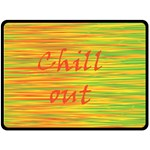 Chill out Double Sided Fleece Blanket (Large)  80 x60 Blanket Front